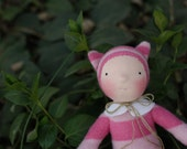Hollyhock, Wee Baby doll by Fig and Me, waldorf inspired, natural toy, handmade doll.