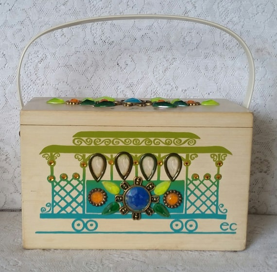 Vintage Enid Collins Cable Car Handbag from TheVintageHandbag on Etsy
