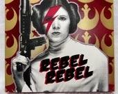 Rebel Leia 10x10 Screenprinted Framed Panel