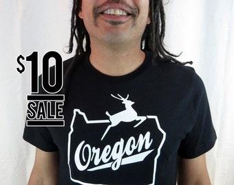 10 Dollar Sale - Oregon Stag Men's Black Tshirt