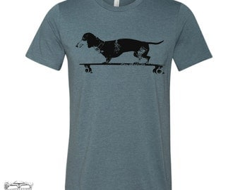 Men's Longboard DACHSHUND t shirt s m l xl xxl (+ Color Options)