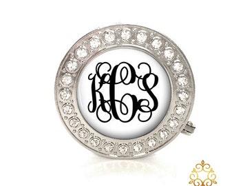 Personalized Monogram Rhinestone Purse Hanger, Monogram Bag Holder, Purse Hook, Bridesmaid Gift Style (374)