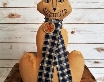 Happy Cat, The Primitive Folk Art Kitty Doll