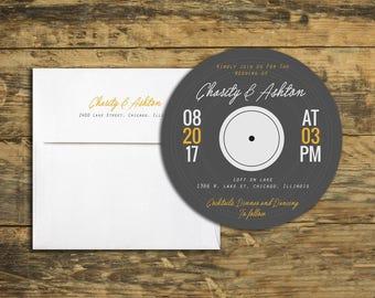 Modern Music Custom Invitation Set - Wedding, Bat Mitzvah, Bar Mitzvah