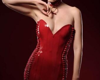 Latex Velda lace up dress