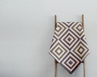 Custom Made-to-order Modern Baby Boy or Girl Quilt, Baby Blanket, Crib Quilt, Stroller Blanket - Striped Squares