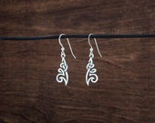 Celtic Tribal Knot Earrings - STERLING SILVER