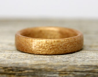 Bentwood Ring - Silkwood Wooden Ring - Handcrafted Wood Wedding Ring - Custom Made