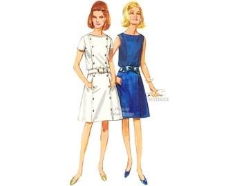 1960s Princess Seam A Line Dress Pattern, Butterick 4403, Bust 34 Vintage Dress Sewing Pattern, Uncut