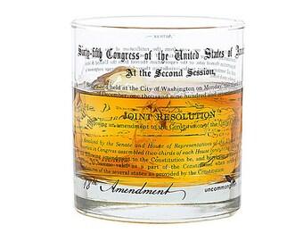 Prohibition 18th Amendment Rocks Glass