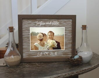 Unity Sand Ceremony Frame Set in Chabby Chic Barnwood, White, Black or Cherry