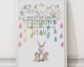 When it Rains Look for Rainbows wall art print