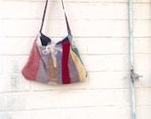 Hippie Upcycled Bag/Upcycled Purse/Boho Bag/Shoulder Bag/Lace Purse Bag/crazy quilt purse/shabby chic purse/upcycled purse/Necktie bag