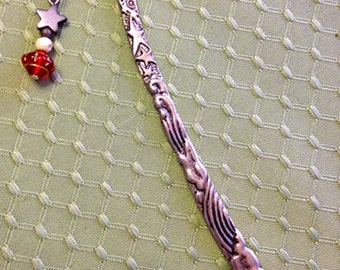 Antiqued Solid Pewter Celestial Planetary Bookmark