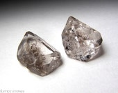 2 Himalayan Smokey Quartz 'Diamond' Crystals w/ Carbon Inclusions // Root & Third Eye Chakra // Crystal Healing // Mineral Specimens