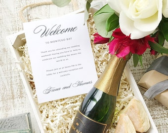 Wedding Welcome Note, Printable Wedding Welcome Bag Letter, Thank You, Lucky Script, Itinerary, Agenda, Hotel Card - INSTANT DOWNLOAD