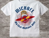 Boy's Personalized My First Airplane Ride Shirt or Onesie Personalized with childs name and date 08282014e