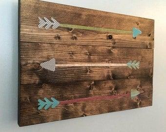 arrow wall art, wooden arrows, rustic arrows, woodland nursery, reclaimed wood, rustic wall art, farmhouse decor,  nursery, gallery wall