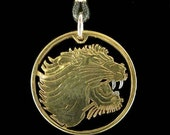 Cut Coin Jewelry - Pendant - Ethiopia - Lion