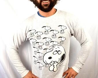 Vintage 90s Snoopy Neon Hip Hop Tee Shirt