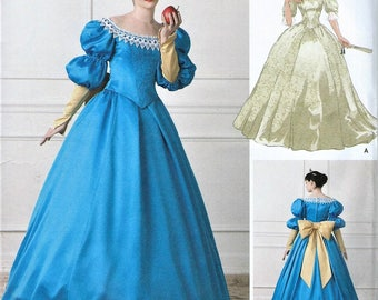 UNCUT Simplicity Andrea Schewe Misses Costume Pattern - Princess - Cinderella - Fairy God Mother