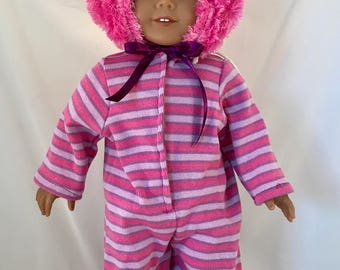 Alice in Wonderland Cheshire Cat Costume costume fits American Girl Doll or other 18 inch Dolls