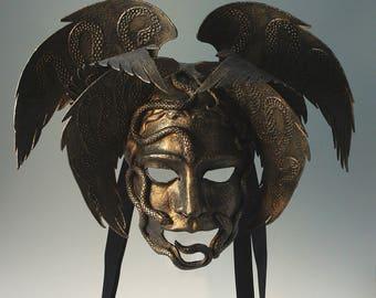 Bronze Snake Mask