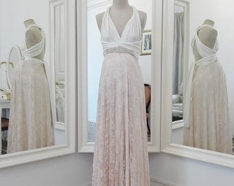 Maternity gown, maternity wedding dress, Maternity lace wedding dress, rose gold wedding dress, maternity rose gold dress, pregnant wedding