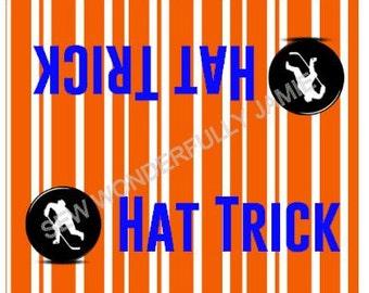 Hat Trick Bag Hockey Birthday Party Treat Topper Bags Islanders New York
