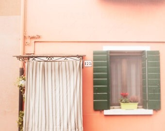 Burano, Wall Art, Pastel Pink House, Venice Art, Italy Photography, Pink Wall Decor, Girls Room, Nursery Art, Romantic, Blush, Travel Decor