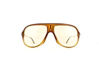 70s Carrera Aviator Sunglasses Frames Unisex Vintage 1970s Matte Brown Frames Made in Austria Model 5547 #M606 DIVINE