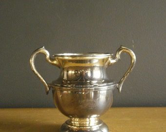 Sugar Bowl Prize - Vintage Silverplate Urn Shaped Vase with Handles - Cromwell
