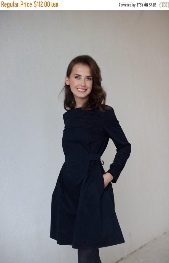 SALE - Blue cotton dress | High fashion dress | Lolita dress | LeMuse blue cotton dress