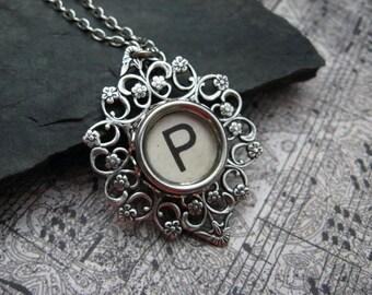 Typewriter Key Jewelry Letter P