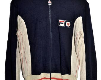 Vintage 70s FILA Bjorn Borg BJ Settanta MK1 Zip Up Tennis Track Jacket 36 S XS Extremely Rare