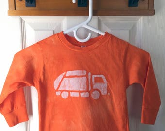 Garbage Truck Shirt, Kids Truck Shirt, Boys Garbage Truck Shirt, Orange Truck Shirt, Girls Truck Shirt, Boys Truck Shirt, Orange Shirt (3T)