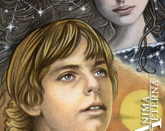 """I have no memory of my mother - Star Wars Traditional Art Watercolor Painting - Fine Art Print 15x20cm (5.9""""x7.8"""") - Hand Signed"""