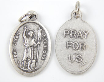 Saint John the Apostle Catholic Medal - Vintage Style Religious Charm - John the Baptist Medallion - Patron St of Love