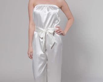 Bridesmaid Romper, Capri Bridal Romper, Wedding Romper, Getting Ready Romper, Capri Lace Romper, Bridesmaids Gift, Ivory Romper, Olive
