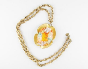 Vintage Judy Lee Necklace with Easter Egg Pendant