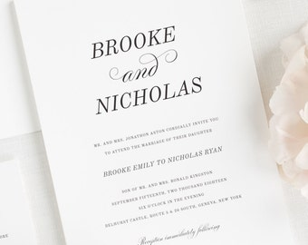 Classic Romance Wedding Invitations - Sample