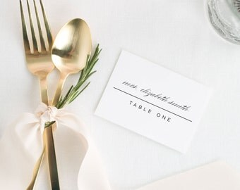 Modern Glamour Place Cards - Deposit