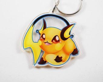 Pokemon Chibi Raichu Keychain