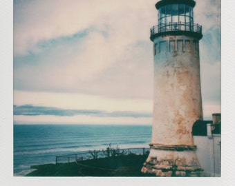 Cape Meares Lighthouse Instant Photography - Decorate with a vintage feel - Free Domestic Shipping