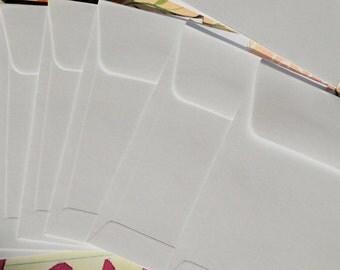 Twelve White Small / Coin Envelopes 2 1/4x 3 1/2 inches