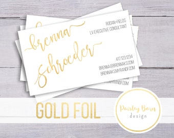 BUSINESS CARDS Gold Foil | skincare, business, marketing, printed, skincare tool, personalized, direct sales, Rodan, Fields