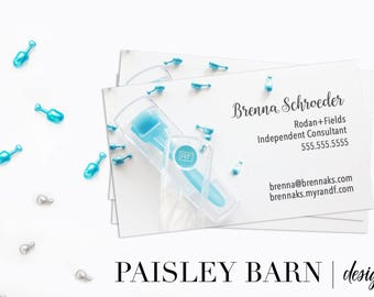 BUSINESS CARDS Front & Back Color | skincare, business, marketing, printed, skincare tool, personalized, direct sales, Rodan, Fields, AMP