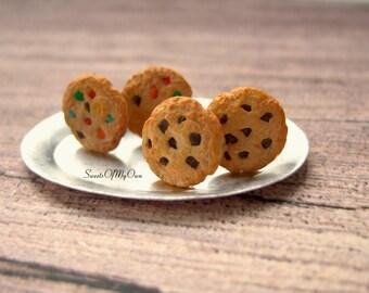 Cookie Earrings - Stud Earrings - Chocolate Chip Cookie / Rainbow Cookie - Food Jewellery - Choose Your Style - Handmade in the UK