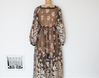 Vintage 1970s Dress - 70s Maxi Dress - The Jessica