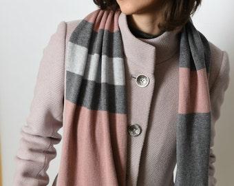 Knit Scarf   Merino Wool Scarf   Cashmere Scarf   Warm Scarf   Winter Scarf   Cashmere wrap   écharpe en cachemir   Kaschmir Schale